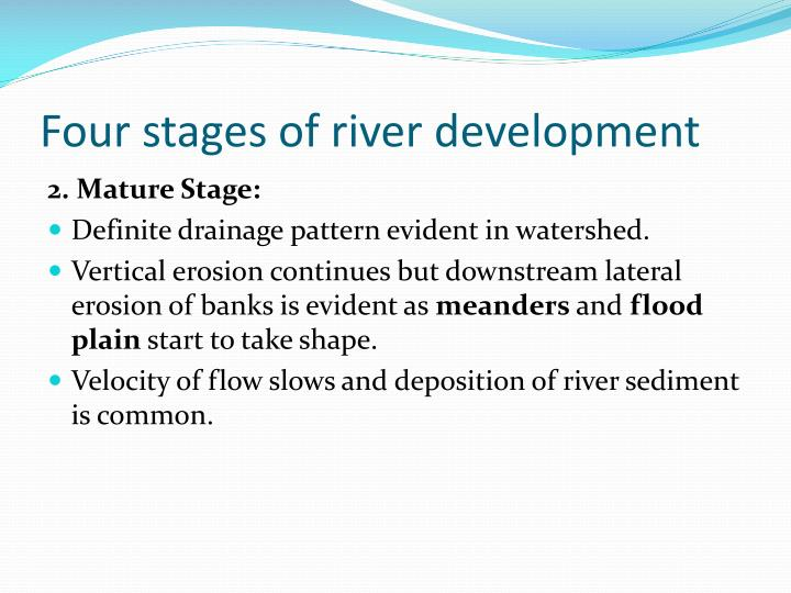 Four stages of river development
