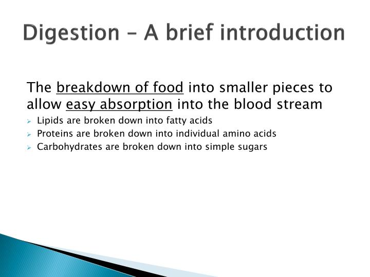 Digestion a brief introduction