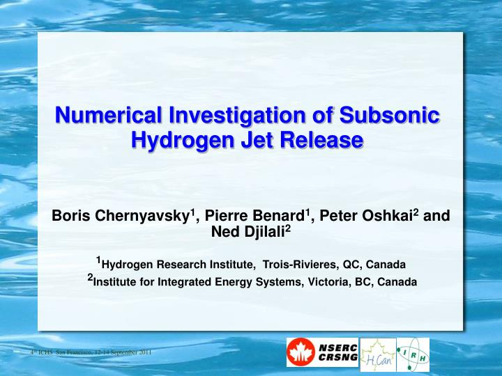Numerical Investigation of Subsonic Hydrogen Jet Release