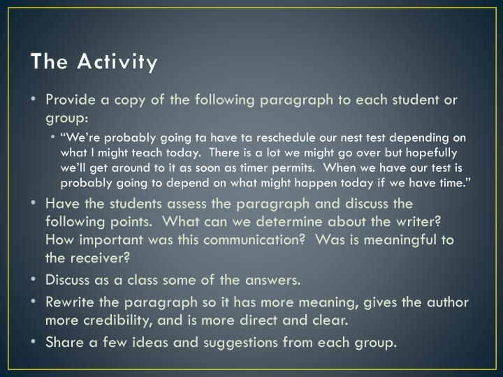 The Activity