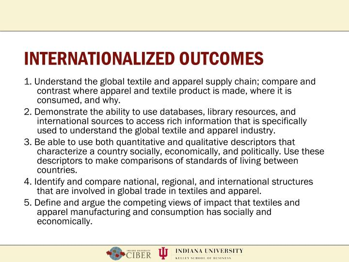 INTERNATIONALIZED OUTCOMES