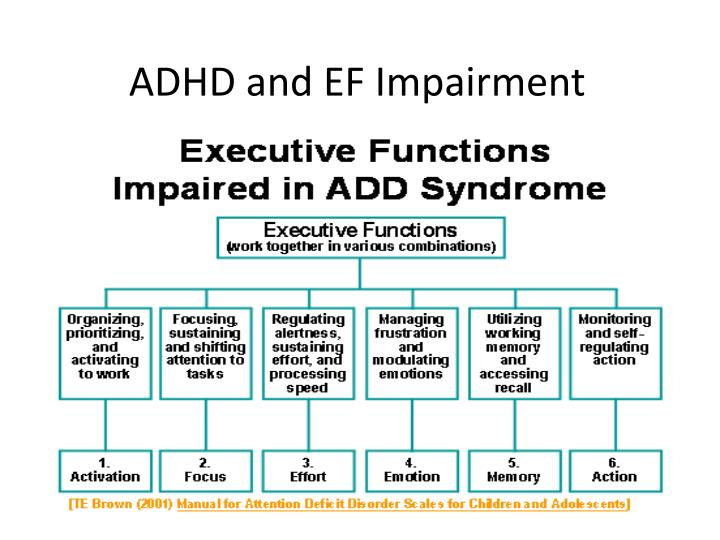 Ppt Executive Functioning Disorder Powerpoint