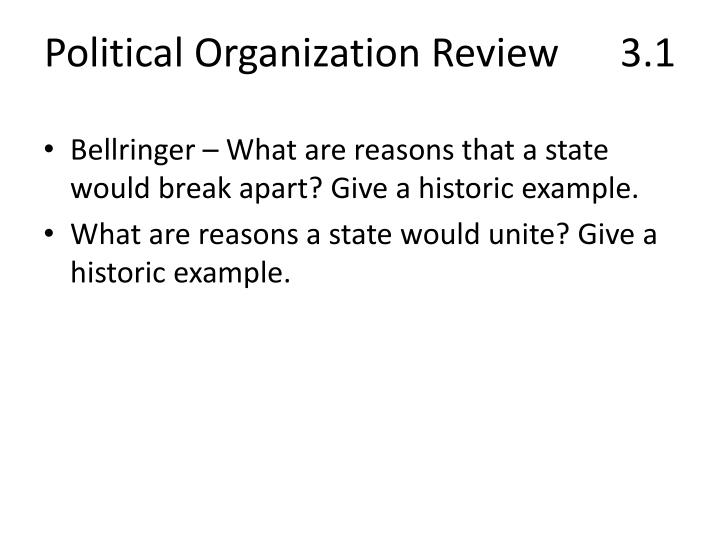 Political Organization Review3.1