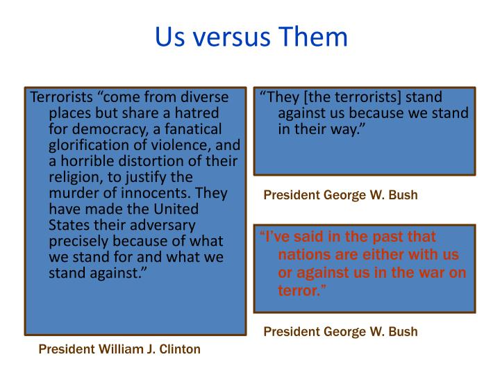 Us versus Them