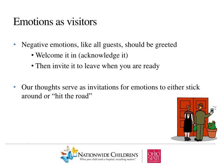 Emotions as visitors