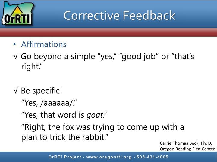 Corrective Feedback