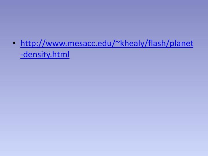 http://www.mesacc.edu/~khealy/flash/planet-density.html