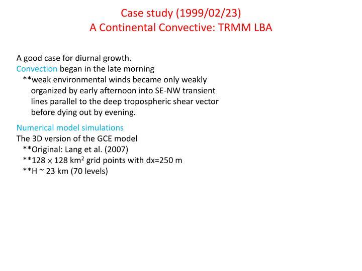 Case study (1999/02/23)
