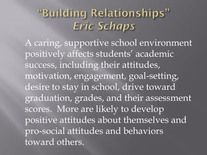 """Building Relationships"""