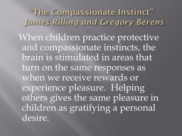 """""""The Compassionate Instinct"""""""