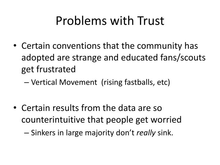 Problems with Trust