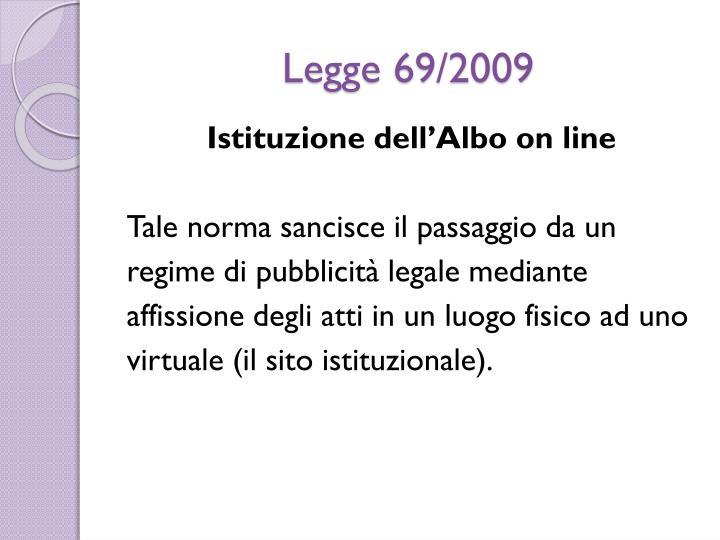 Legge 69/2009