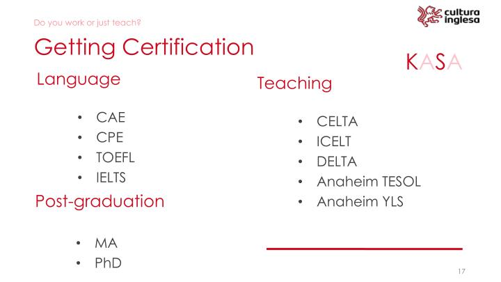 Getting Certification