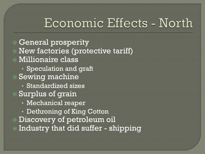 Economic Effects - North