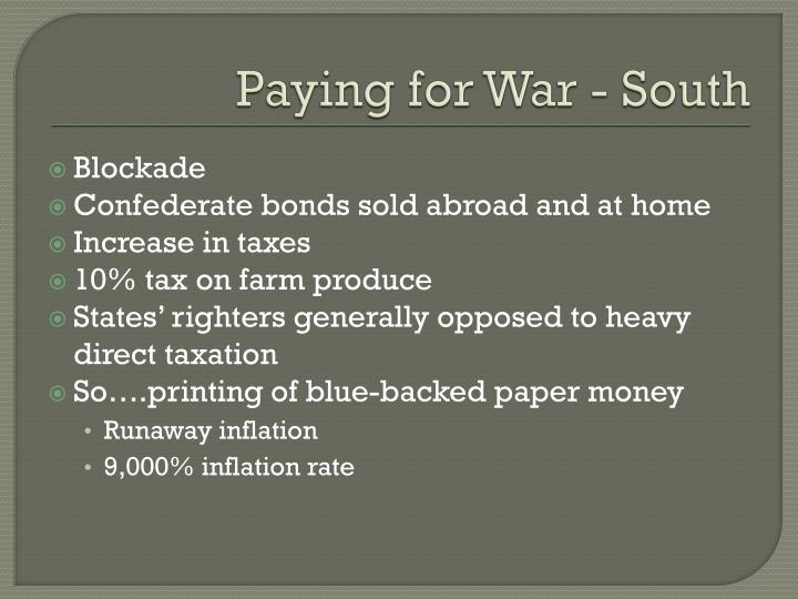 Paying for War - South