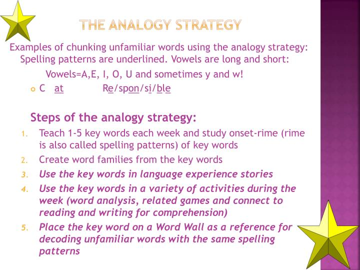 The Analogy Strategy