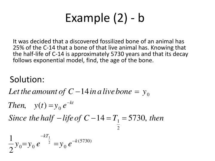Example (2) - b