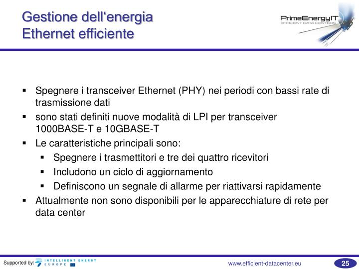 Gestione dell'energia
