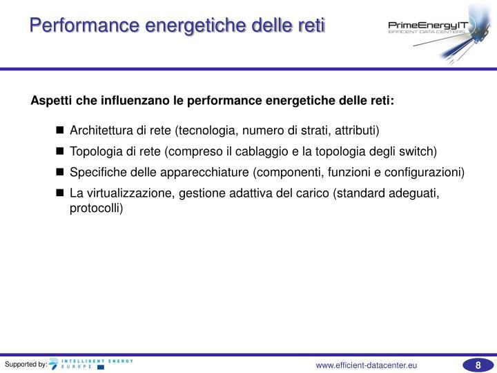Performance energetiche delle reti