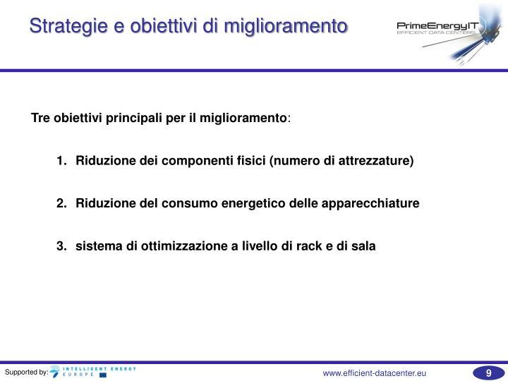 Strategie e obiettivi di miglioramento