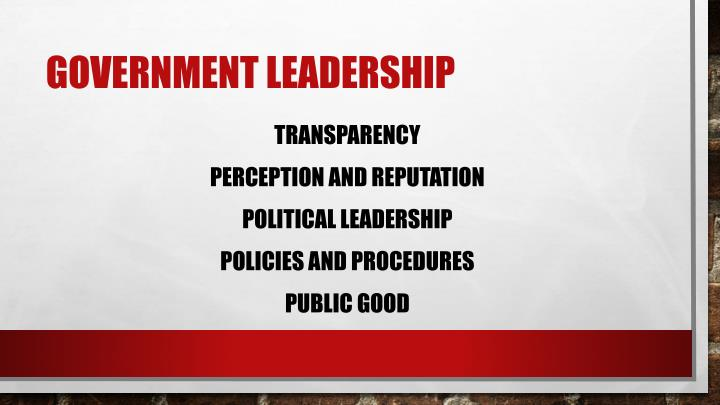 Government Leadership