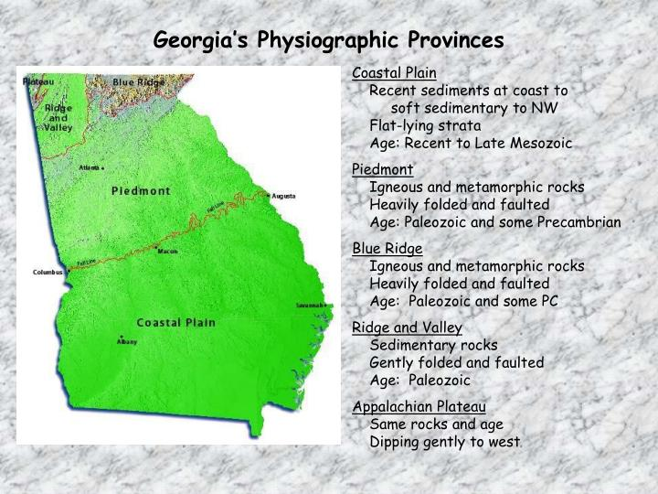 Georgia's Physiographic Provinces