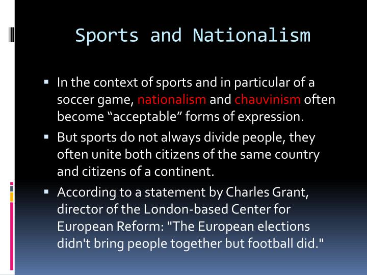Sports and Nationalism