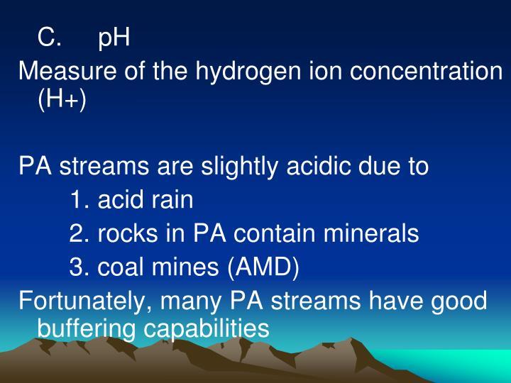 C.     pH