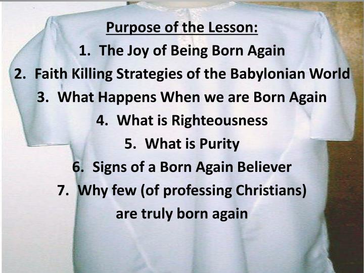 Purpose of the Lesson: