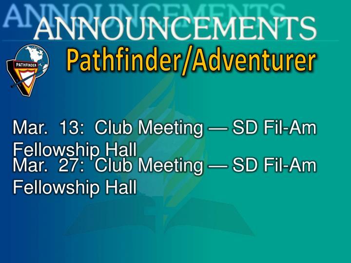 Pathfinder/Adventurer