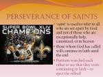 perseverance of saints