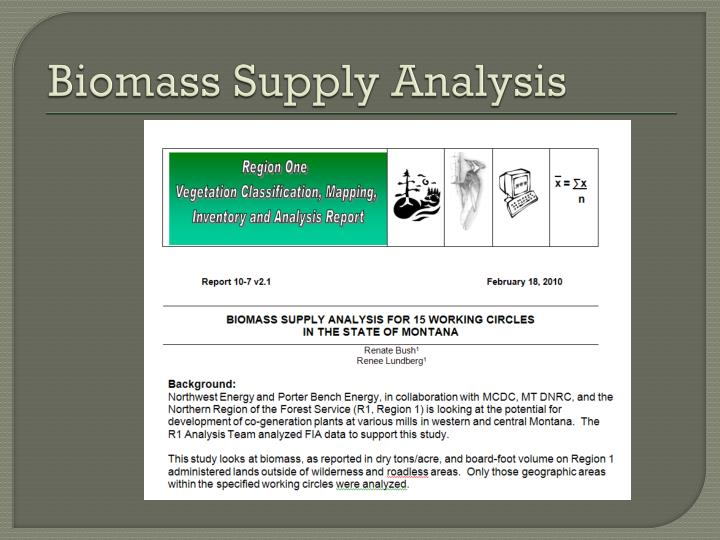 Biomass Supply Analysis