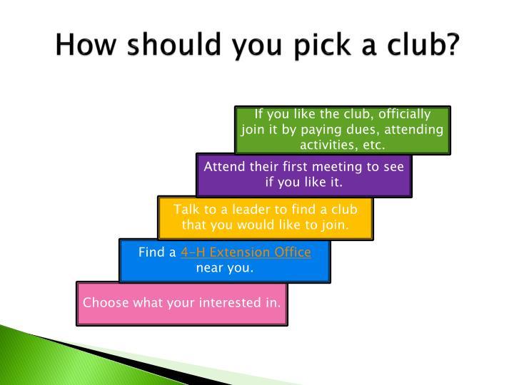 How should you pick a club?