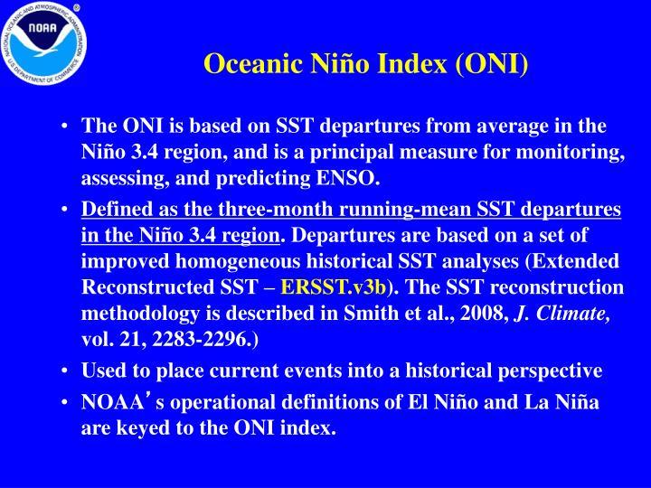 Oceanic Niño Index (ONI)