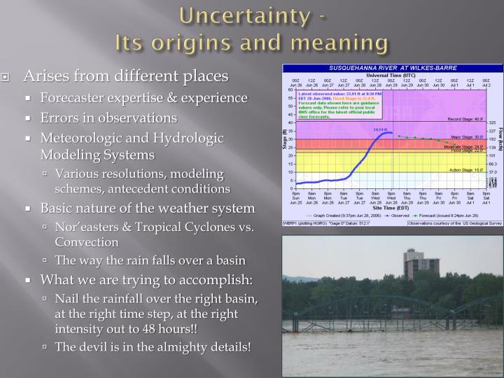 Uncertainty -