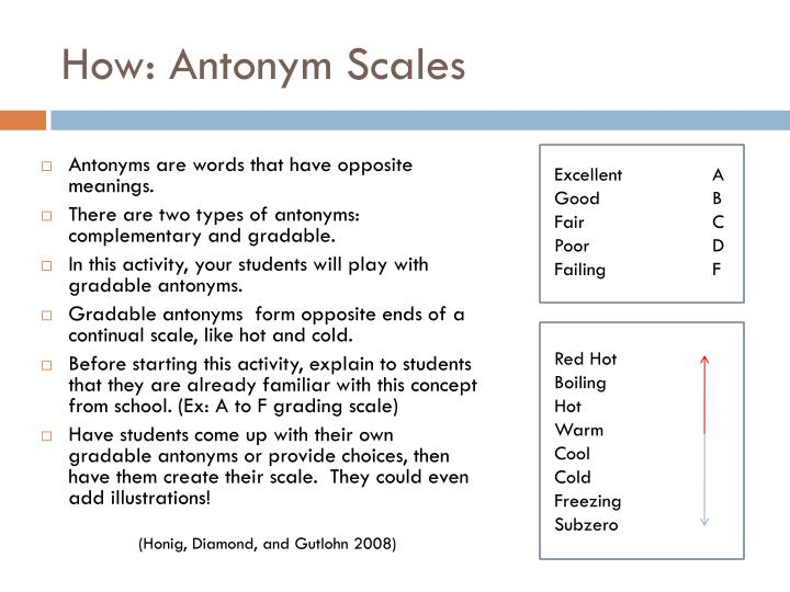How: Antonym Scales