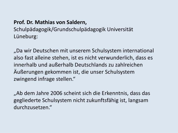 Prof. Dr. Mathias von