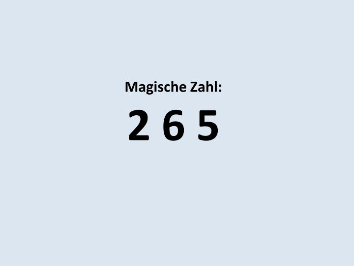 Magische Zahl: