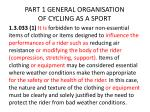 part 1 general organisation of cycling as a sport3