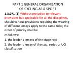part 1 general organisation of cycling as a sport7