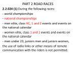 part 2 road races2