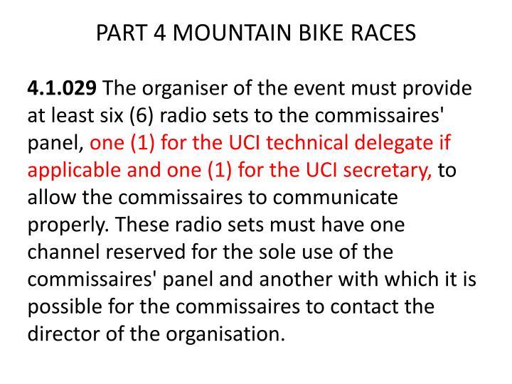 PART 4 MOUNTAIN BIKE RACES