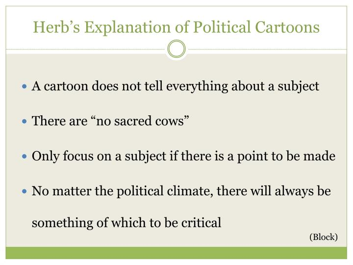 Herb's Explanation of Political Cartoons