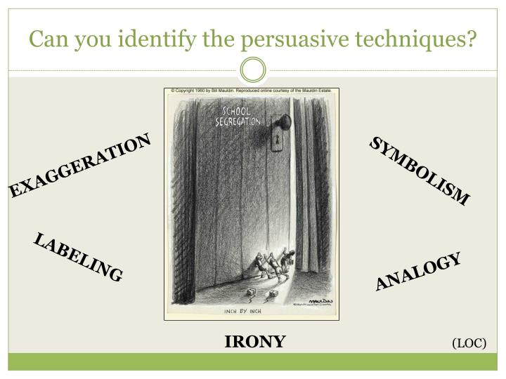 Can you identify the persuasive techniques?
