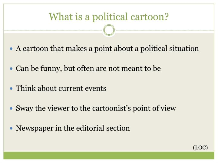 What is a political cartoon?
