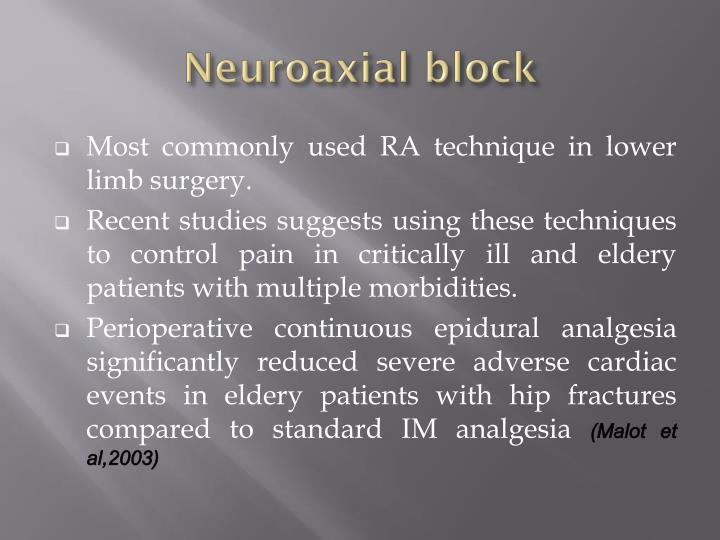 Neuroaxial