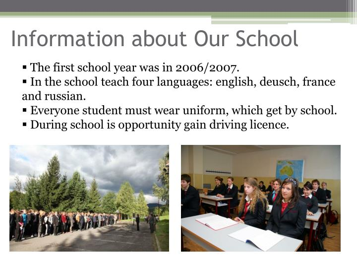 Information about our school