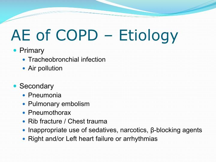 AE of COPD