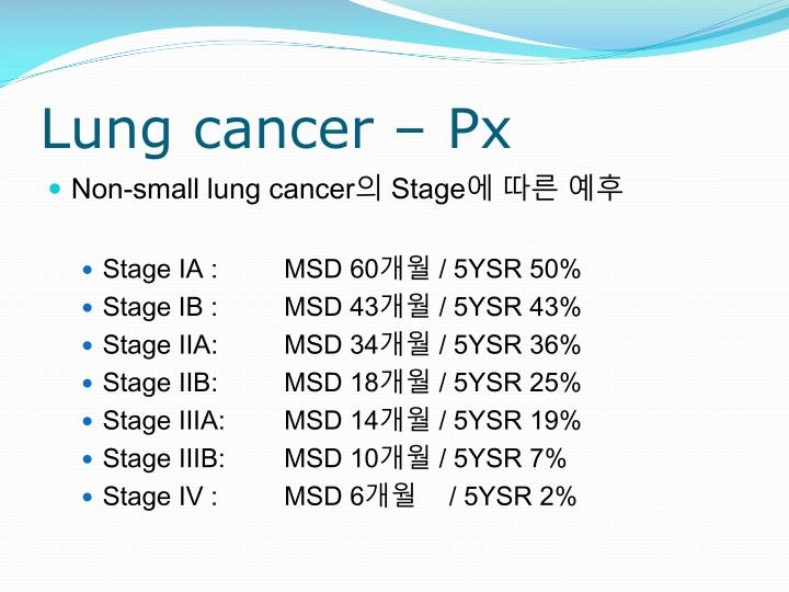 Lung cancer –