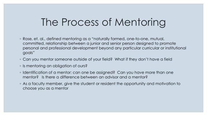 The Process of Mentoring